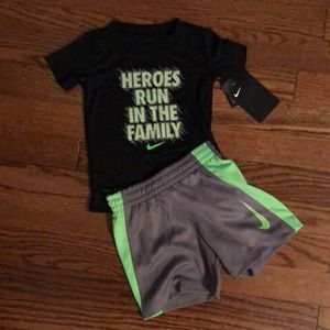 Nike dri fit top and shorts set